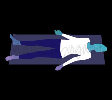 Posizione Yoga Shavasana
