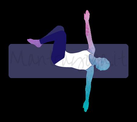Supta Matsyendrasana (posizione distesa di Matsyendra)
