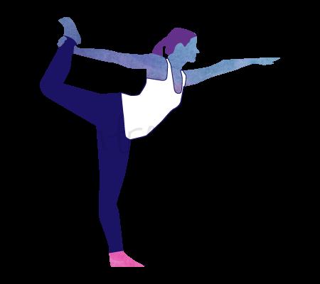 Natarajasana (posizione del re danzatore)